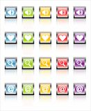 MetaGlass Icons Web 1 (Vector) stock photos