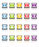 MetaGlass Icons Web 2 (Vector). Glassy, metallic colorful Web icons-easy to edit. No transparencies Royalty Free Stock Image