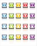 MetaGlass Icons Web 2 (Vector). Glassy, metallic colorful Web icons-easy to edit. No transparencies royalty free illustration