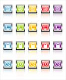 MetaGlass-Ikonen-Netz 3 (Vektor) lizenzfreie stockfotos