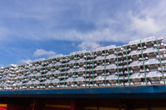 Metais de alumínio dos lingotes Foto de Stock