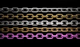 metal łańcuszkowe inkasowe część Zdjęcia Stock