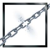 Metal łamający łańcuch ilustracji
