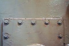 Metal ściana, szczegółowy, abstrakcjonistyczny widok, Fotografia Royalty Free