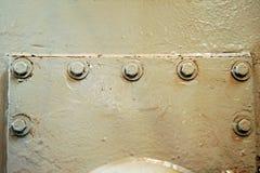 Metal ściana, szczegółowy, abstrakcjonistyczny widok, Fotografia Stock