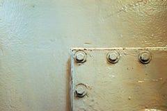 Metal ściana, szczegółowy, abstrakcjonistyczny widok, Obraz Royalty Free