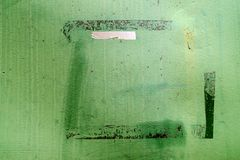 Metal ściana, zieleń, szczegół Obraz Royalty Free