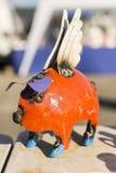 Metal świnia myśleć go może latać pomarańcze Zdjęcia Royalty Free