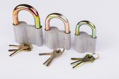 Metal аксессуары для дверей на белой предпосылке Стоковая Фотография RF