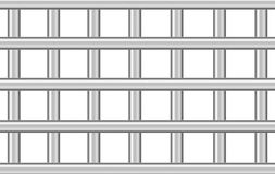 Metal бары тюрьмы на белизне, иллюстрации 3d иллюстрация штока