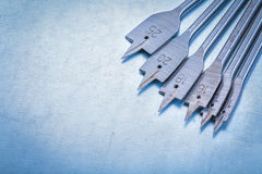 Metal биты лопаты для сверля древесины на металлическом Стоковая Фотография RF