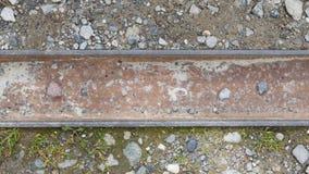 Metal дренаж дождя шторма на пути в горах Стоковые Изображения RF