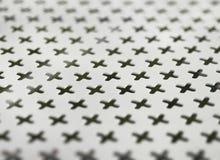 Metal декоративная картина, черные кресты на белой предпосылке Стоковое Изображение RF