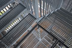 Metal лестницы стоковое изображение rf