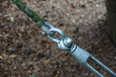 Metal закрепление тандеров кабелей с стальной штангой Стоковые Изображения RF