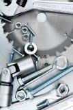 Metal инструменты и элементы отладки на поцарапанное Стоковое фото RF
