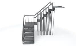 Metal лестница на белой предпосылке, рамки перевод 3d бесплатная иллюстрация
