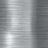 Почищенная щеткой алюминиевая металлическая плита Стоковая Фотография