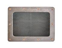 Metal плита предпосылки картины сетки безшовная с рамкой металла Стоковое Изображение