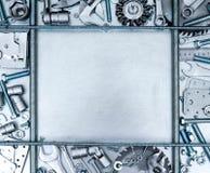 Metal рамка и много инструментов деятельности на Стоковая Фотография