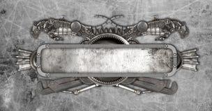 Metal рамка и старый автоматический автомобиль запасных частей Стоковые Фото