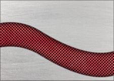 Metal решетка в красном цвете с стальными листами, предпосылке для дизайна Стоковая Фотография