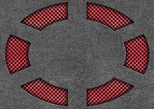 Metal решетка в красном цвете с стальными листами, предпосылке для дизайна Стоковые Изображения RF