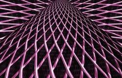 Metal решетка сетки или алюминия на черной предпосылке стоковое изображение rf