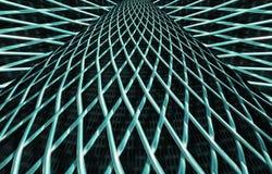 Metal решетка сетки или алюминия на черной предпосылке стоковое фото