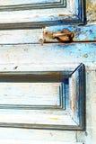 metal ржавое коричневое Марокко в Африке старая синь Стоковое Изображение RF