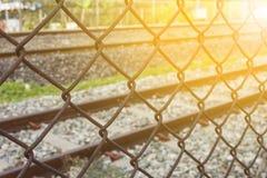 Metal сеть, загородка рельса рельса железная, заржавел железная сетка Стоковое Фото
