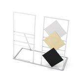 Metal стойка для плиток изолированных на белой предпосылке перевод 3d Стоковые Изображения