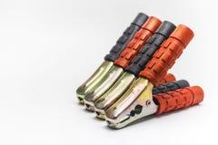 Metal струбцины весны с красной и черной пластмассой на ручках Стоковая Фотография RF