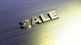 Metal слово 'продажа' на поверхности металла перевод 3d Стоковые Фотографии RF