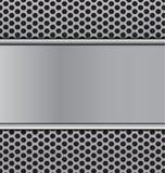Metal текстура на черным гриле пефорированном cicrle углерода диктора t Стоковые Фото
