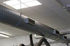 Metal трубка для кондиционера промышленного комплекса Стоковые Изображения RF