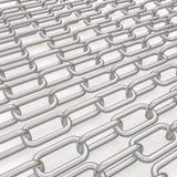 Metal цепи на белизне Стоковое фото RF