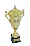 Metal чашка цвета золота для победителя Стоковое Фото