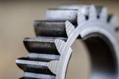 Metal шестерни предусматриванные с слоем масла в более большом изображении spare стоковые изображения