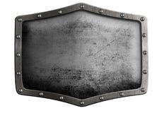 Metal экран или изолированная гребнем иллюстрация 3d при включенный путь клиппирования Стоковые Фотографии RF