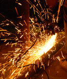 Metal 10. Cutting metal with hand tool Royalty Free Stock Image