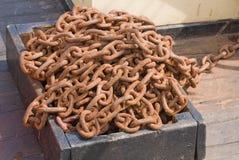 цепи metal старое ржавое Стоковые Фото