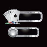 обломоки карточек знамен metal играть Стоковая Фотография RF
