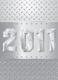 Metal 2011. Layout with metal new year 2011 Stock Illustration