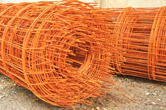 Metal. Reinforcement metal framework for concrete pouring stock images