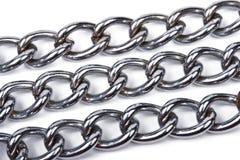 изолированные цепи metal белизна Стоковое Фото