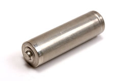 Metal AA battery Royalty Free Stock Images