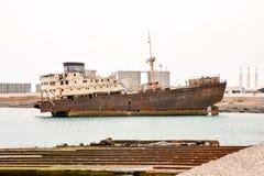 Metal abandonado Rusty Ship Imagen de archivo libre de regalías