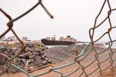 Metal abandonado Rusty Ship Foto de archivo libre de regalías