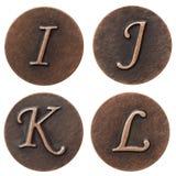 Metal abc Royalty Free Stock Image
